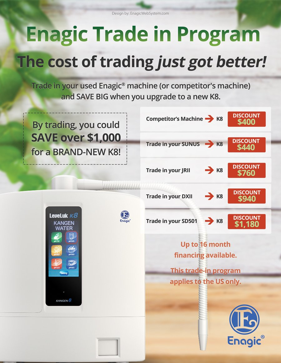 Enagic Trade-in Sale
