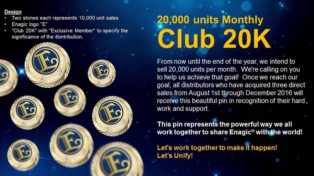 Club 20K pin