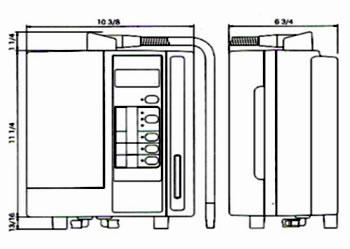 размеры ионизатора воды Enagic leveluk sd501