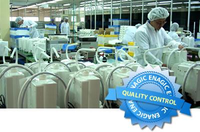 Enagic's strict quality control process